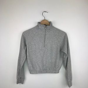 Garage half zip cropped sweater